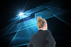 Businesswoman standing with hands on hips Royalty Free Stock Photo