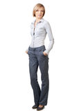 Businesswoman standing with hands in pockets Royalty Free Stock Photo