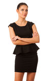 Businesswoman standing looking up and thinking, looking confiden Royalty Free Stock Photos