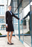 Businesswoman  standing outdoors Stock Images