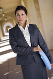 Businesswoman standing outdoors Stock Photo