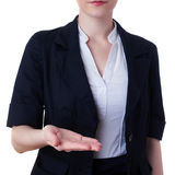 Businesswoman standing over white isolated background Royalty Free Stock Photography