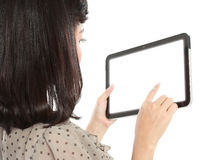 Businesswoman standing with touch pad Royalty Free Stock Photo