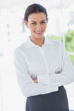 Businesswoman standing in the workplace Royalty Free Stock Photos