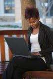 businesswoman stanowiska badawczego Fotografia Stock