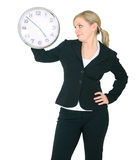 Businesswoman Staring At Clock Royalty Free Stock Photo