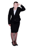 Businesswoman staring into the horizon Royalty Free Stock Image