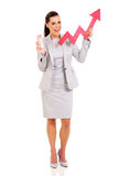 Businesswoman stock arrow Royalty Free Stock Images