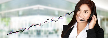 Businesswoman At The Stock Market Stock Image