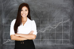 Businesswoman At The Stock Market Royalty Free Stock Photo