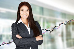 Businesswoman At The Stock Market Stock Photos