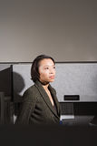 Businesswoman stood in office Stock Image