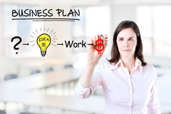 Businesswoman with a strategy plan. Stock Images