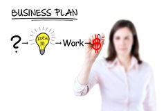 Businesswoman with a strategy plan. Stock Image