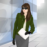 Businesswoman on the street Stock Image