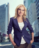 Businesswoman on the street Stock Photos