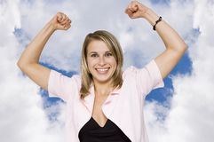 Businesswoman strength Stock Image