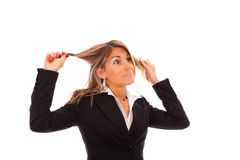 Businesswoman in stress Stock Photo