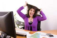 Businesswoman stress Stock Images