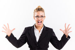 Businesswoman in stress Royalty Free Stock Images