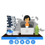Businesswoman stress hard work, Royalty Free Stock Photos