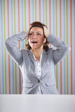 Businesswoman with stress Stock Photo