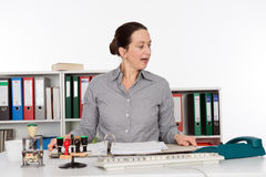 Businesswoman is stressed Stock Images