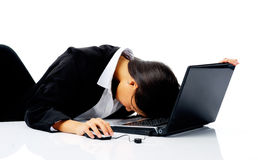Businesswoman stressed out Stock Photography