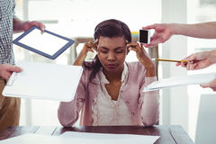 Businesswoman stressed out at work Royalty Free Stock Image