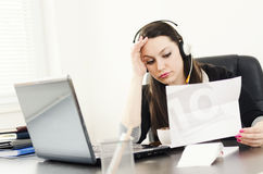 Businesswoman stressed out Royalty Free Stock Photography