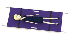 Businesswoman on stretcher Stock Photo