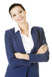 Businesswoman or student in elegant clothes Stock Images