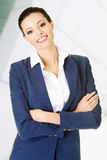 Businesswoman or student in elegant clothes Royalty Free Stock Image