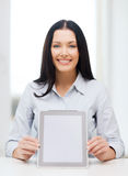 Businesswoman or student with tablet pc computer Stock Images