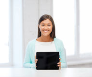Businesswoman or student with tablet pc Royalty Free Stock Photography