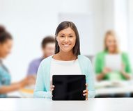 Businesswoman or student with tablet pc Royalty Free Stock Photos