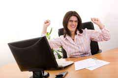 Businesswoman success Royalty Free Stock Photography