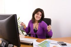 Businesswoman success Stock Images