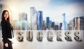 Businesswoman success view Royalty Free Stock Photos