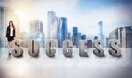 Businesswoman success view Stock Photography