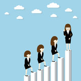 Businesswoman success Royalty Free Stock Images