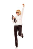 Businesswoman successful full-length Royalty Free Stock Image