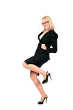 Businesswoman successful full-length Royalty Free Stock Images