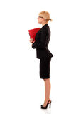 Businesswoman successful in profile full-length Royalty Free Stock Photo