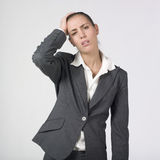 Businesswoman suffering Stock Images