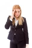 Businesswoman suffering from headache Royalty Free Stock Photo