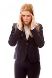Businesswoman suffering from headache Royalty Free Stock Photos