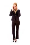 Businesswoman suffering from headache Royalty Free Stock Images