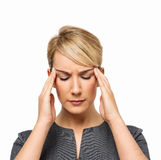 Businesswoman Suffering From Headache Royalty Free Stock Photography