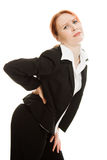 Businesswoman suffering from the pain Royalty Free Stock Photography